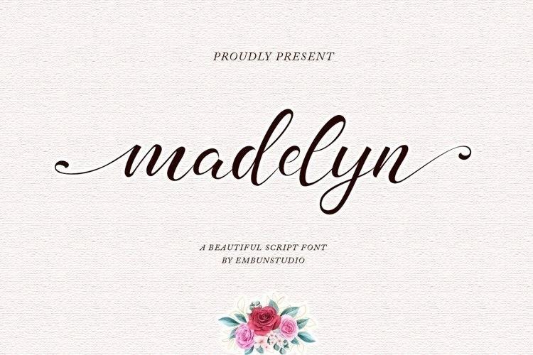 Madelyn Chic好看的花体艺术英文字体