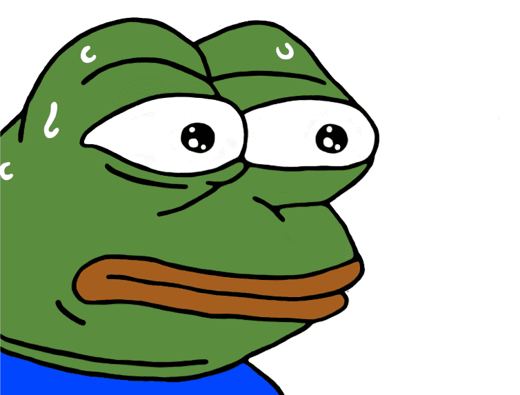 sad frog猥琐蛙超高清png免抠透明图素材免费下载