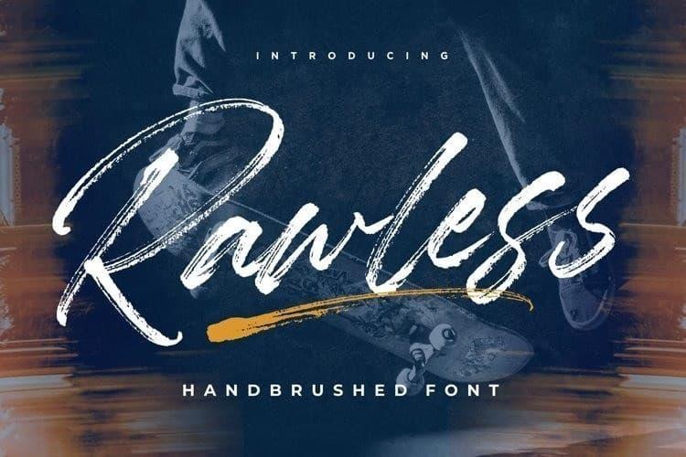 Rawless中间镂空的笔刷ps英文字体下载