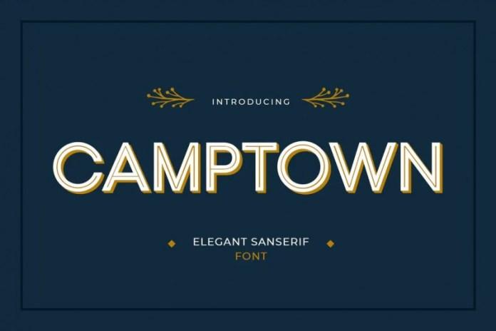 Camptown空心无衬线英文字体下载