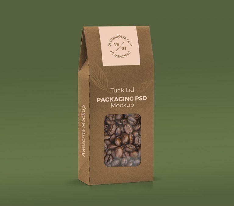 屋顶型纸盒食品包装样机素材下载PSD