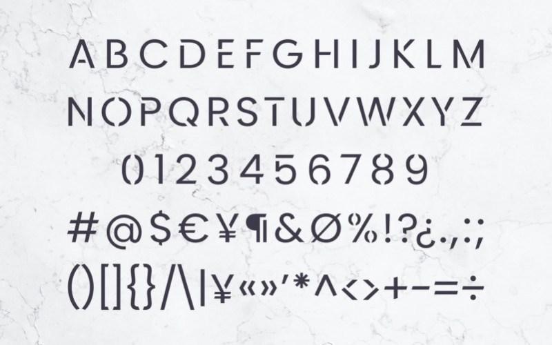 Kerox科幻风格等线英文字体