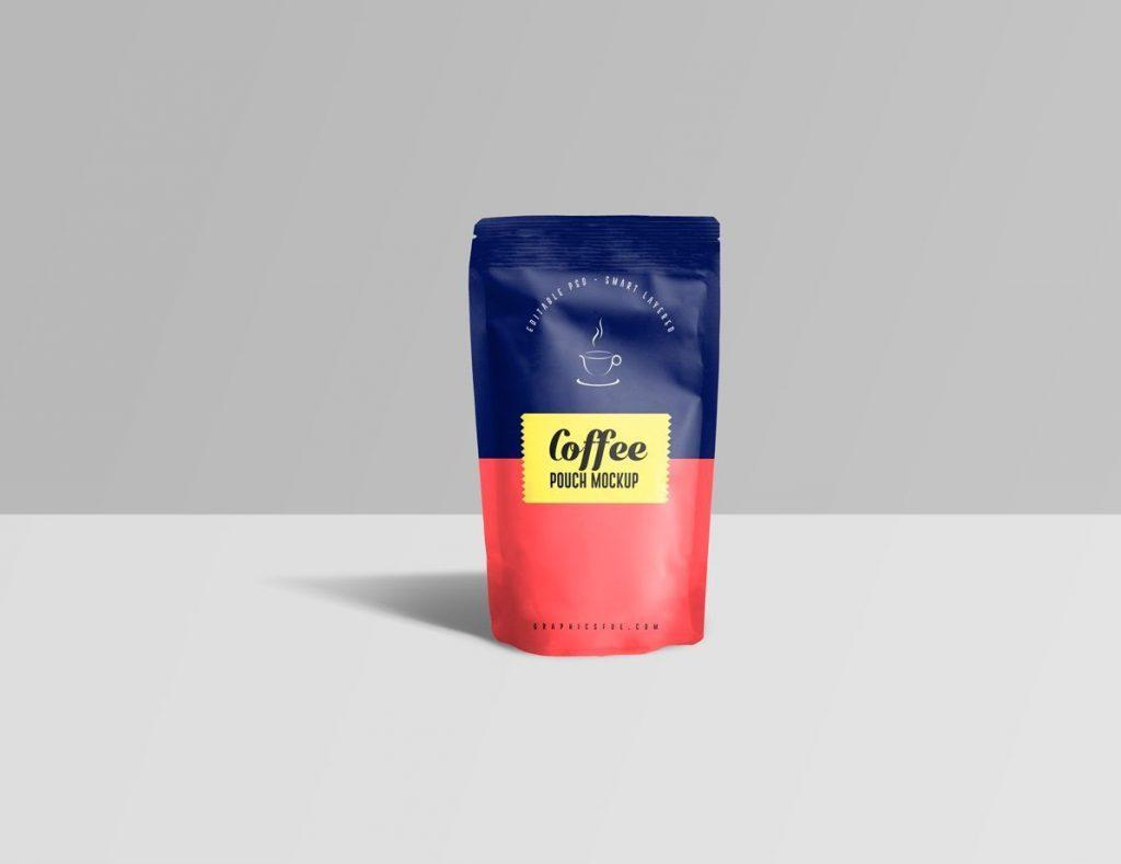 食品包装凹凸扣自封袋PSD样机素材下载