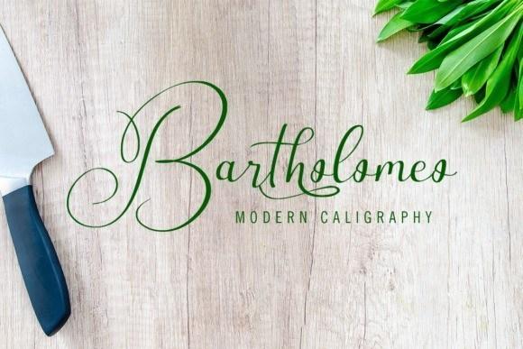 Bartholomeo纤细优美的英文花体艺术字体下载
