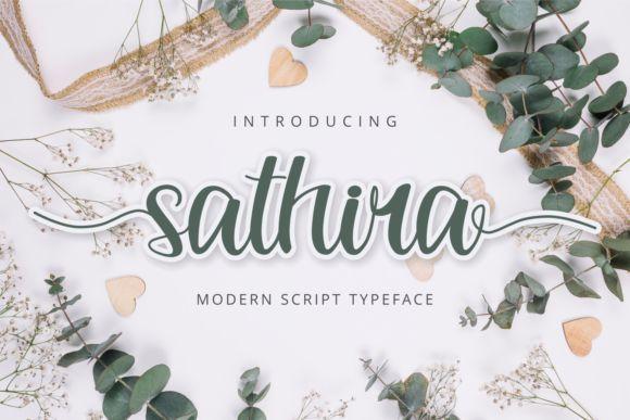 Sathira花体ps设计英文手写字体
