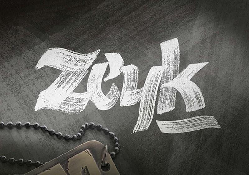 Zeyk大气粗糙的英文毛笔书法字体下载