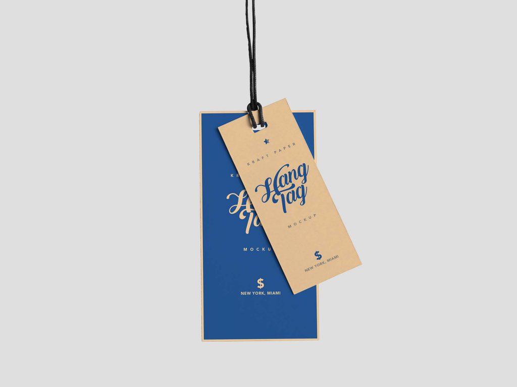 服饰吊牌样机图模板PSD设计素材下载