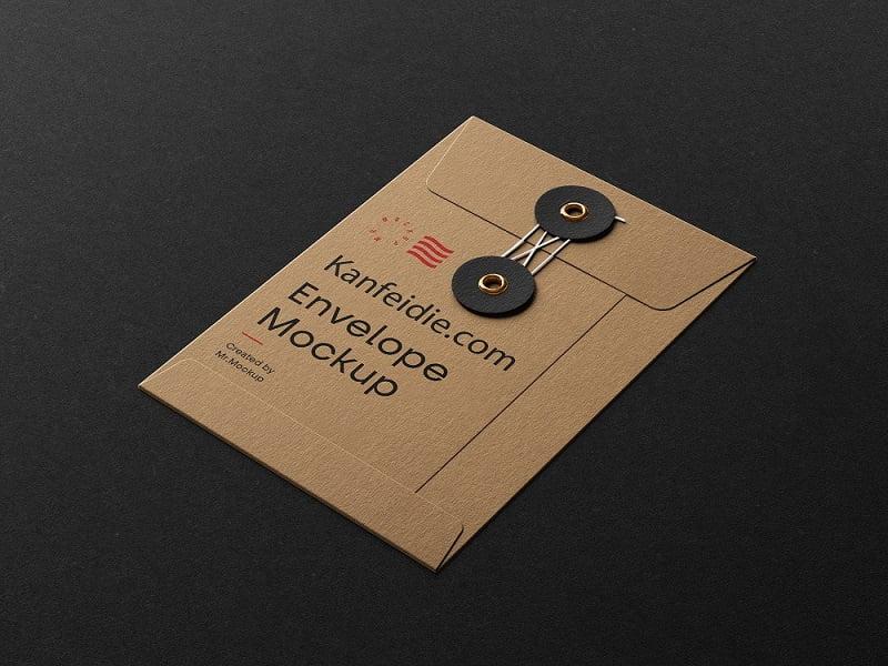 牛皮纸档案袋信封样机素材PSD下载