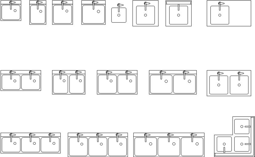 商场洗手池水槽cad设计图纸打包下载(dwg)