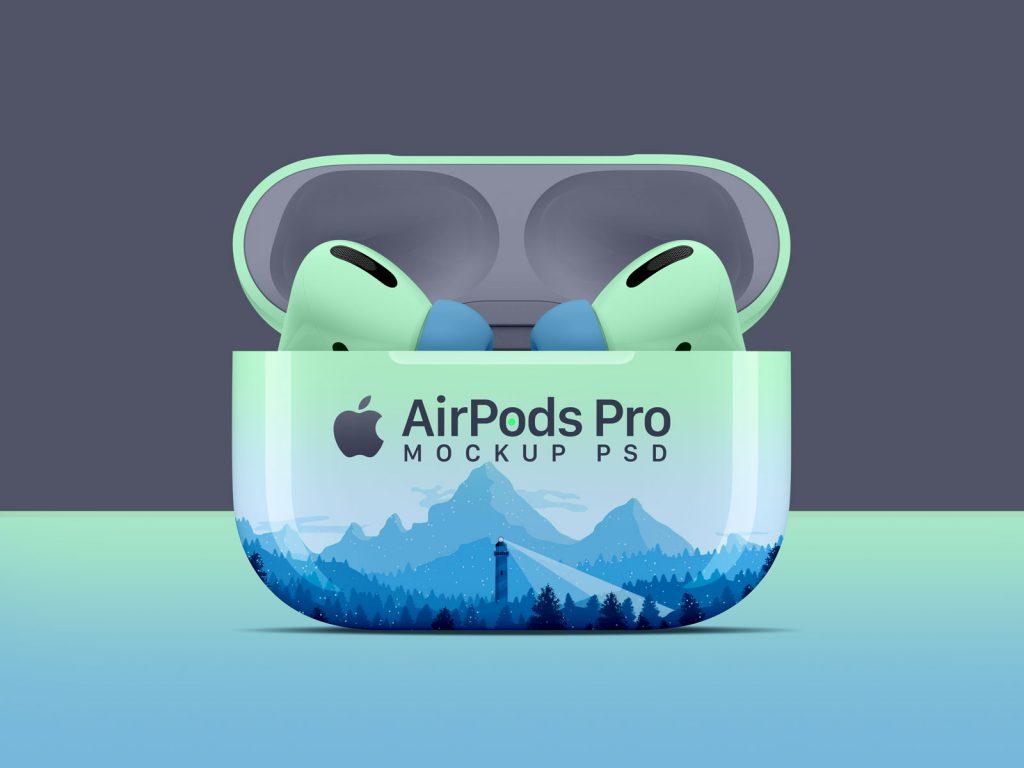AirPods Pro保护套样机图PSD素材下载