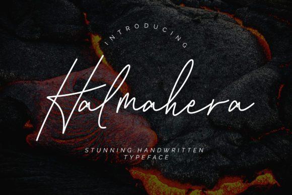 Halmahera超细流畅的斜体英文手写ps字体