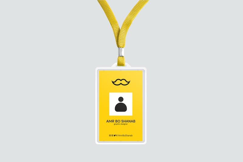 员工工作证吊牌样机素材PSD下载