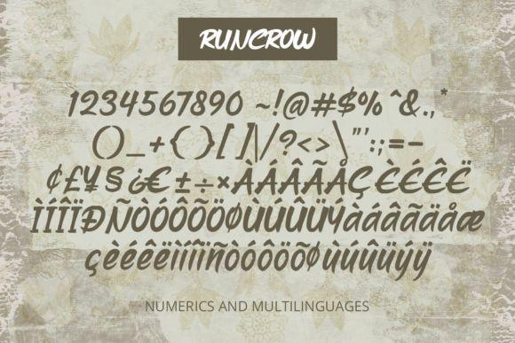 Runcrow大气中国风毛笔书法英文字体
