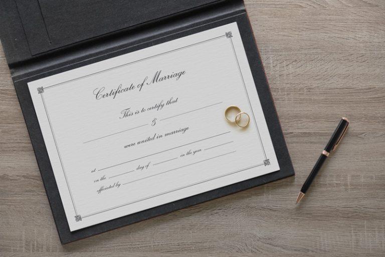 纸质证书样机图模板PSD素材下载