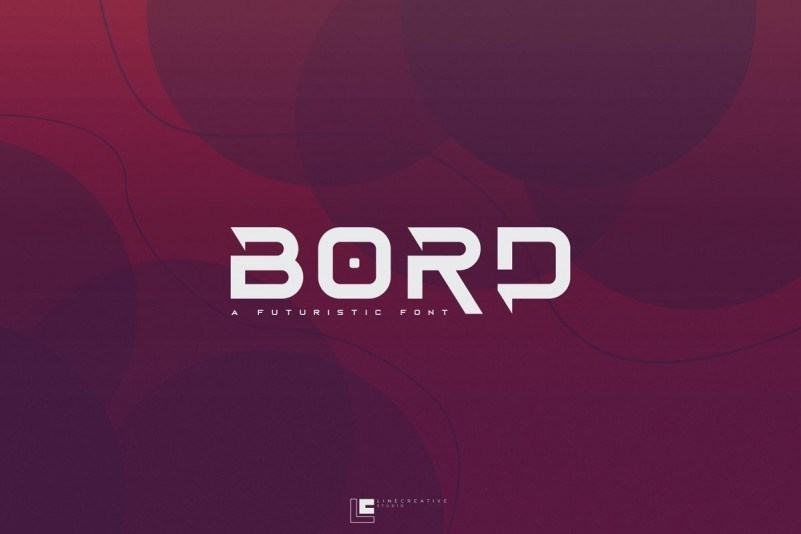 Bord科幻未来感设计ps英文字体下载