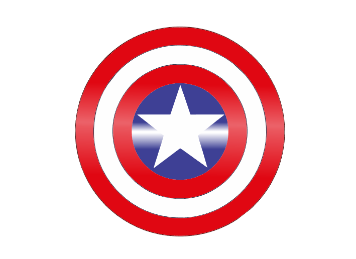 美国队长盾牌标志矢量图设计素材下载