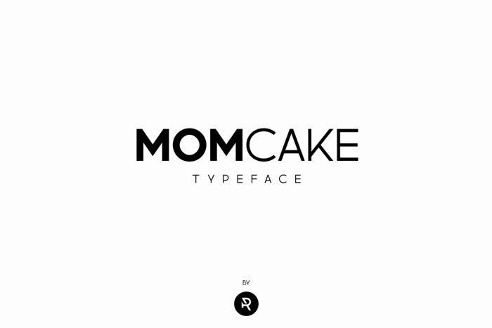 MOMCAKE极简主义的精美无衬线ps英文字体下载