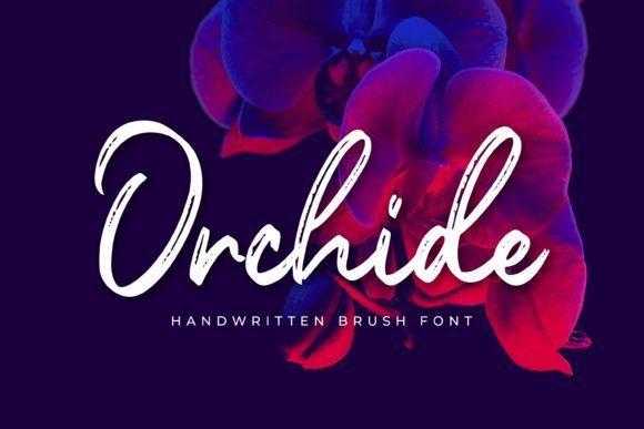 Orchide粗糙毛笔手写英文艺术字体