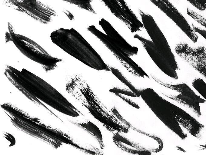 51款中国风PS笔刷素材,毛笔水墨画笔触打包下载