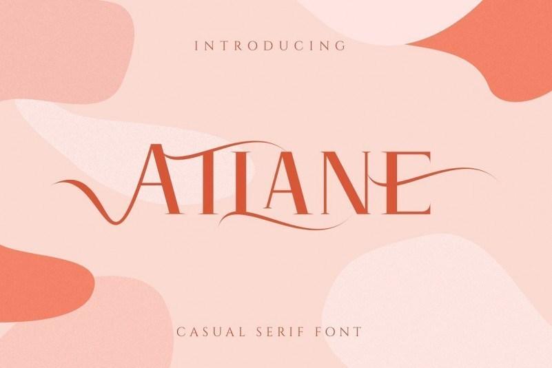 Atlane女性化服装妆品常用的LOGO设计衬线英文字体下载