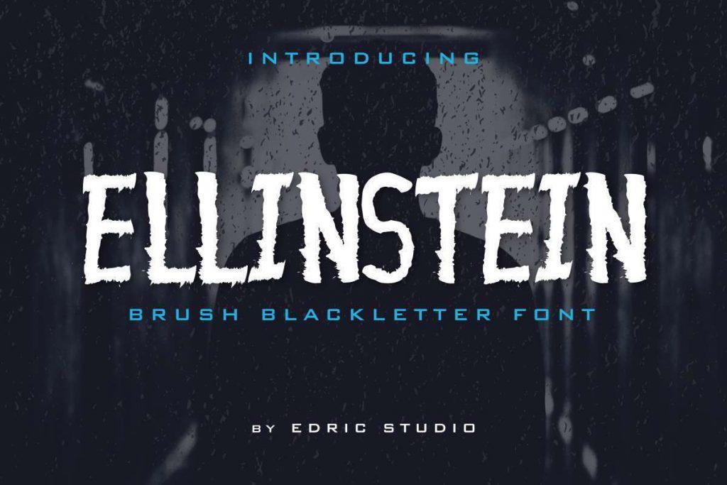 Ellinstein哥特式万圣节恐怖风格手写笔刷英文字体下载