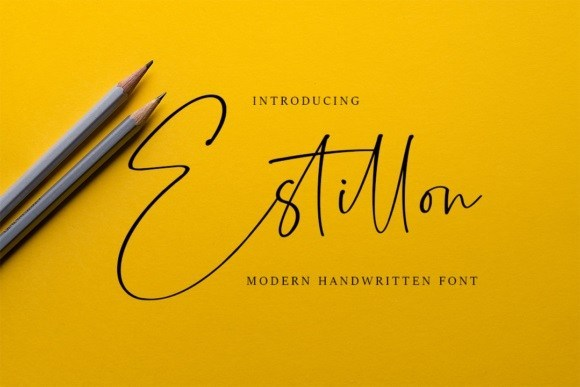 文艺纤细的钢笔手写英文签名字体下载 Estillon