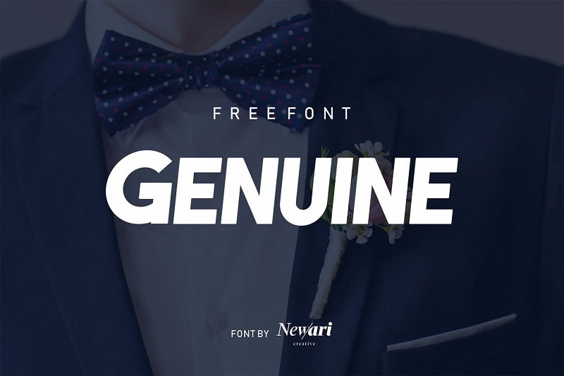 Genuine无衬线加粗斜体标准英文标题字体免费下载