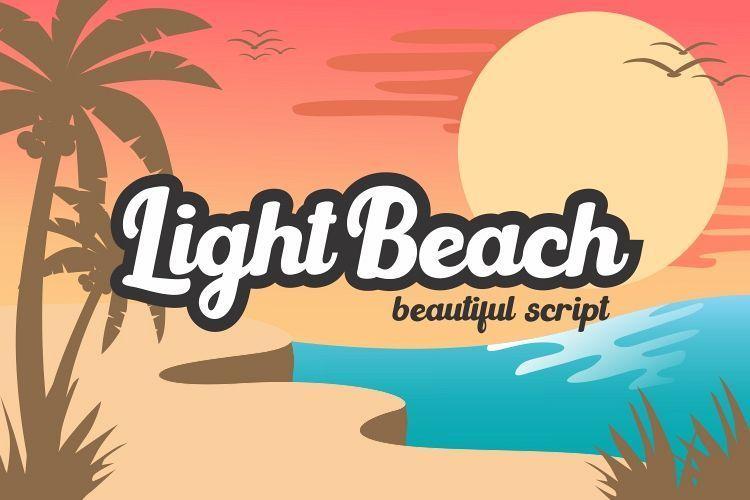 圆润卡通的卡爱花体连笔手写英文粗字体下载 Light Beach