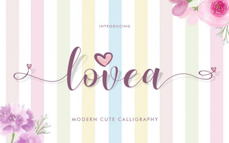 Lovea充满爱意的小清新ps花体手写英文字体下载