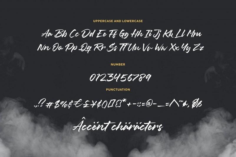 PS海报设计常用的笔刷书法风格粗体手写英文字体下载