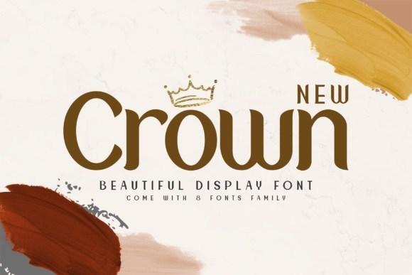 Crown优雅简洁无衬线ps常用LOGO英文字体下载