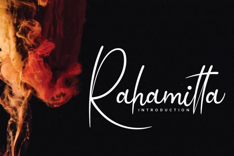 Rahamitta艺术海报名片签名连笔手写英文字体下载