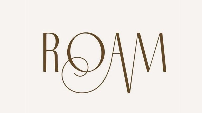 Roam优美花式的女性风格LOGO设计英文字体下载