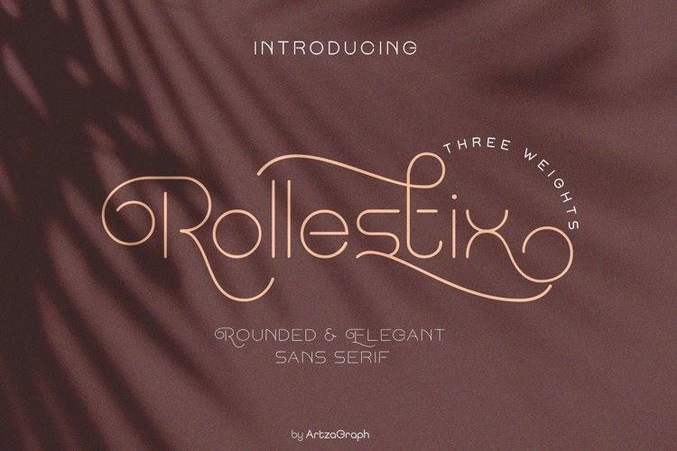 Rollestix纤细ins风格简洁优美的花式ps英文字体下载