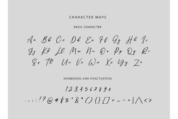 ps英文字体下载 适合LOGO设计与签名的手写连笔风格