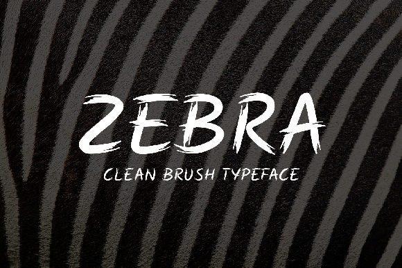 粗犷有力的手写毛笔刷ps英文字体下载 Zebra