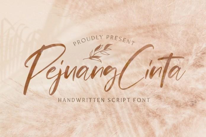Pejuang Cinta网红ins风格的艺术连笔手写英文字体下载