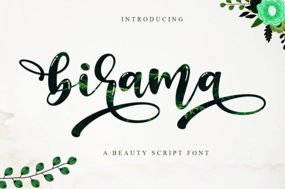 Q弹饱满的可爱手写花体英文圆润字体下载 Birama