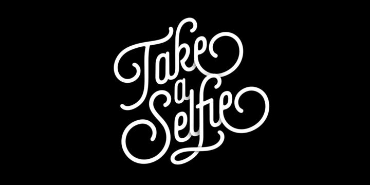 英文字体下载 Selfie欧洲复古艺术花体风格咖啡LOGO常用
