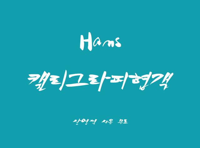 斜体手写草书风格的韩文字体下载