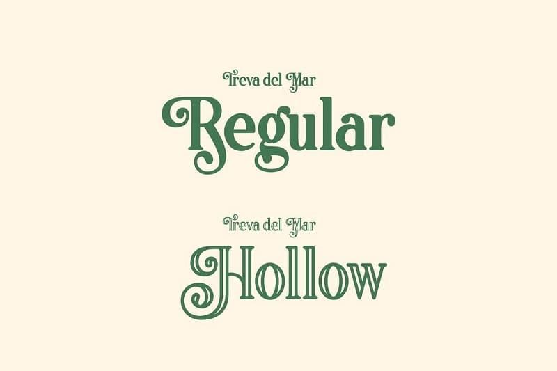 高雅复古的镂空花体衬线英文字体下载