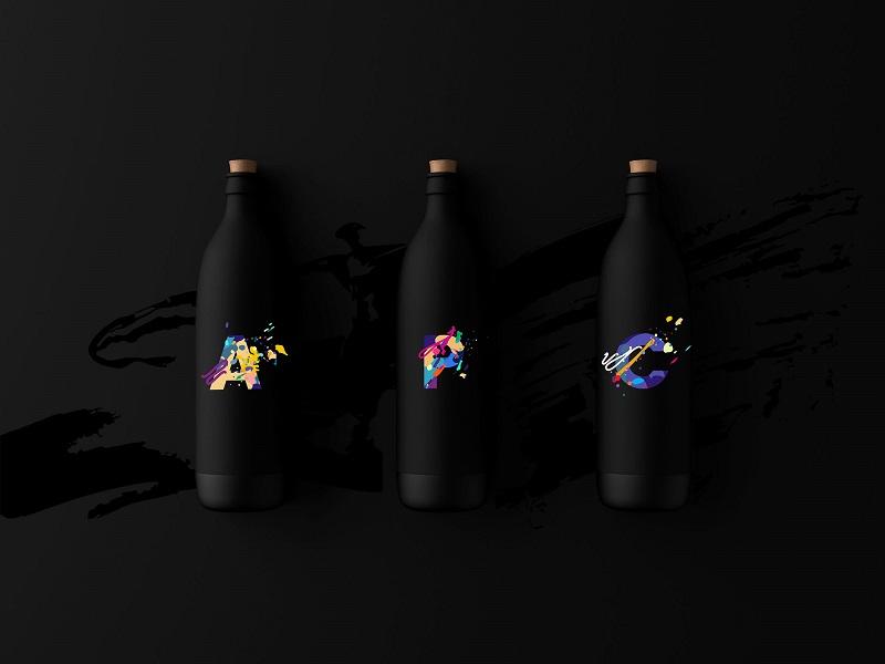 五颜六色水彩泼溅英文字母ai矢量设计素材下载