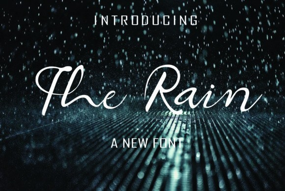 The Rain 连笔手写签名ins风格英文字体免费下载